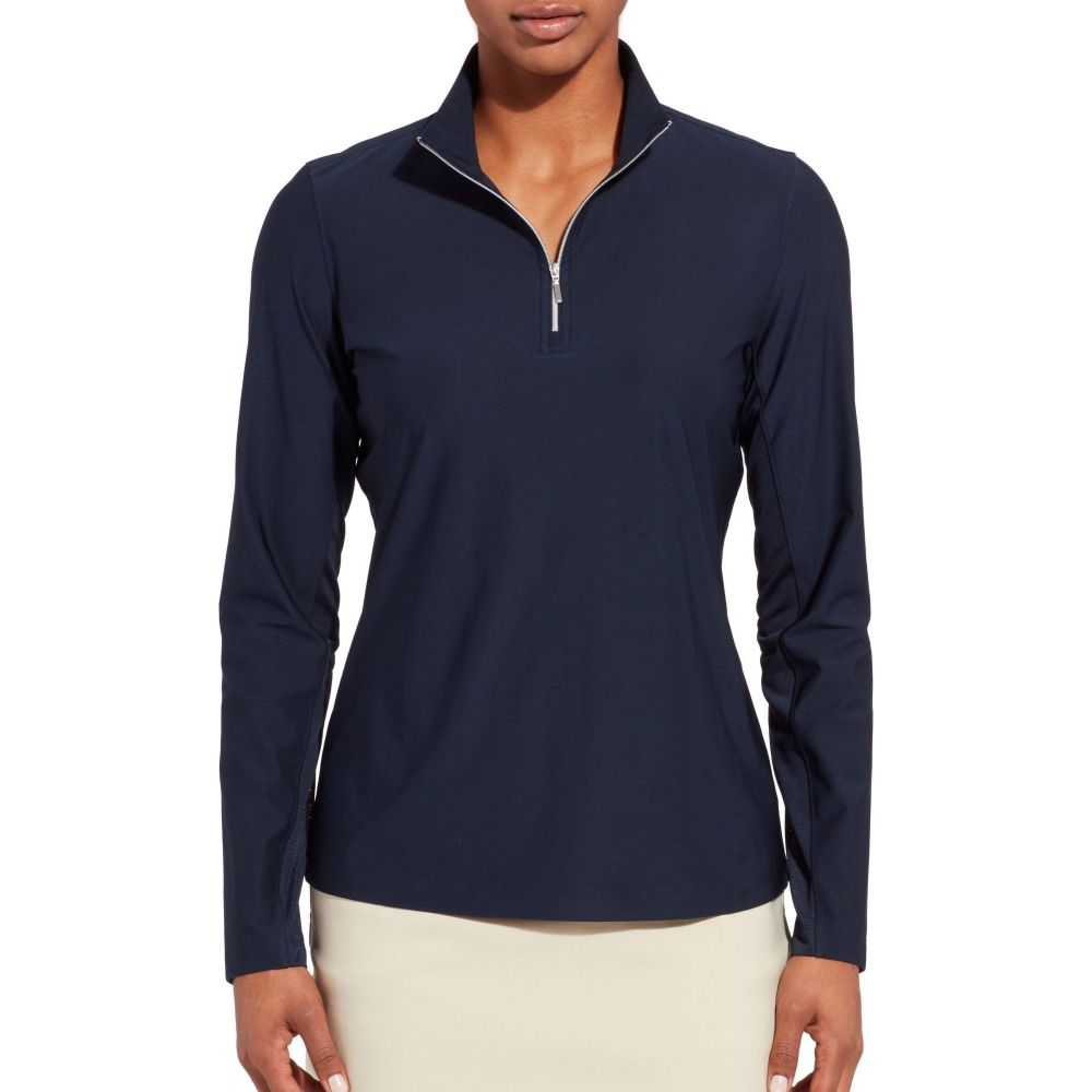 レディー ハーゲン Lady Hagen レディース ゴルフ トップス【Hagen UV 1/4-Zip Golf Pullover】Dark Navy