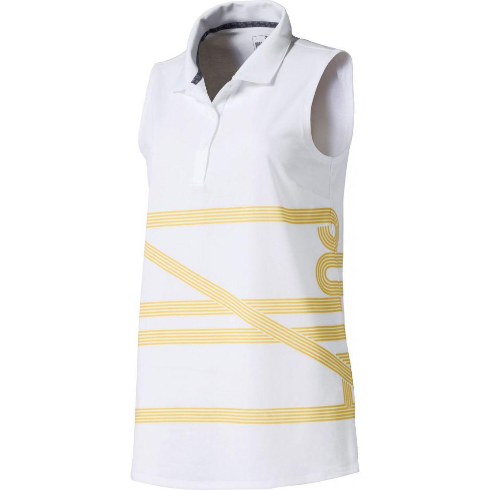 プーマ PUMA レディース ゴルフ ノースリーブ ポロシャツ トップス【Script Sleeveless Golf Polo】Bright White