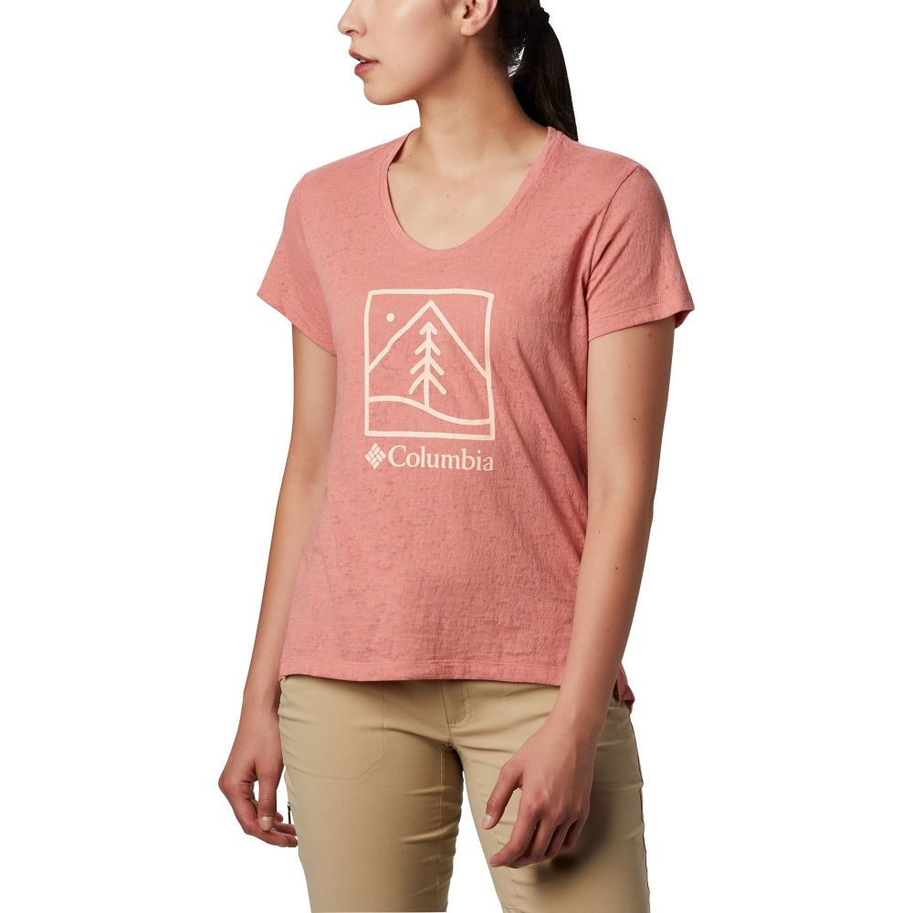 コロンビア Columbia レディース Tシャツ トップス【Rose Summit Graphic T-Shirt】Dark Coral/Outdoor Icon