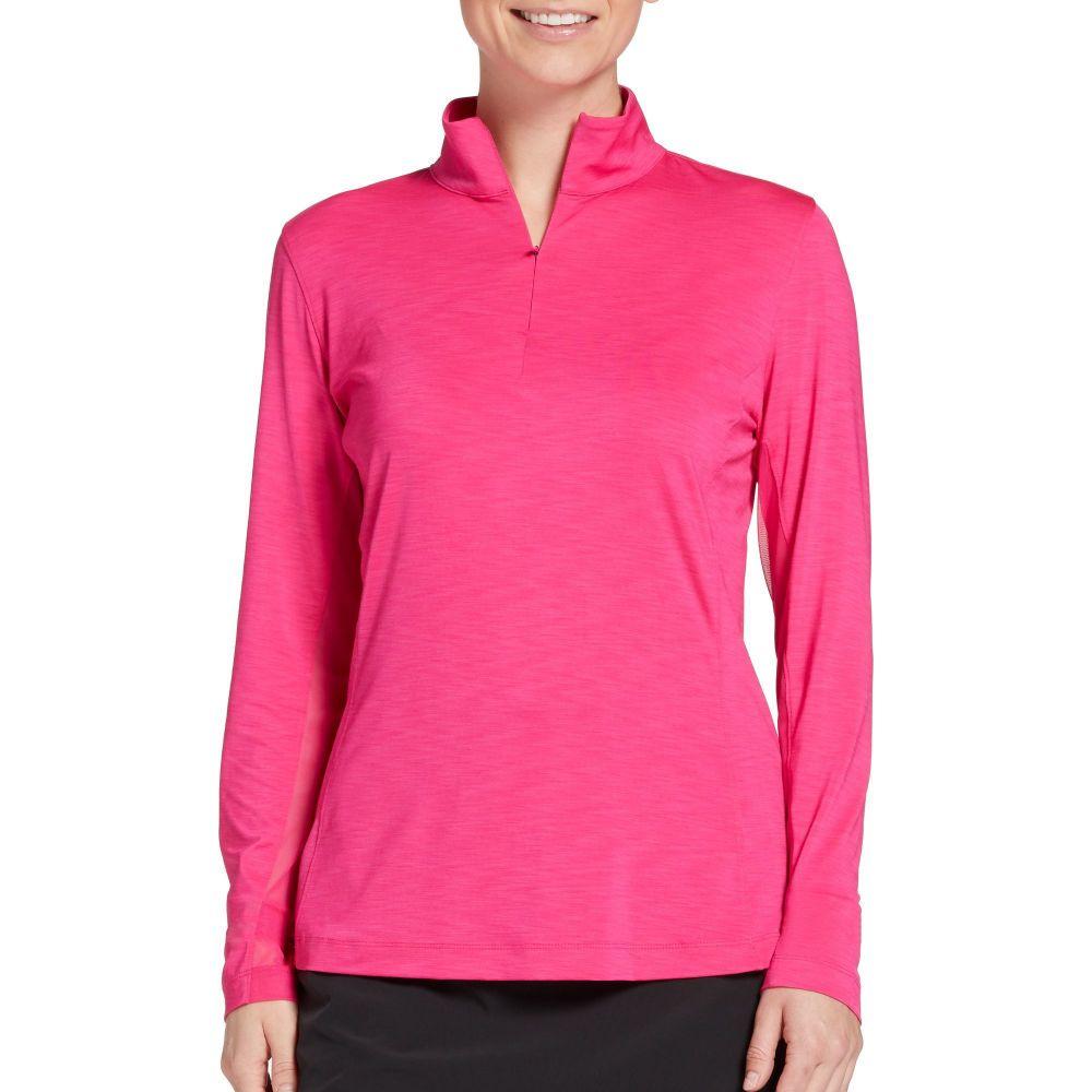 スラセンジャー Slazenger レディース ゴルフ トップス【UV Long Sleeve Golf Pullover】Sweety Pink