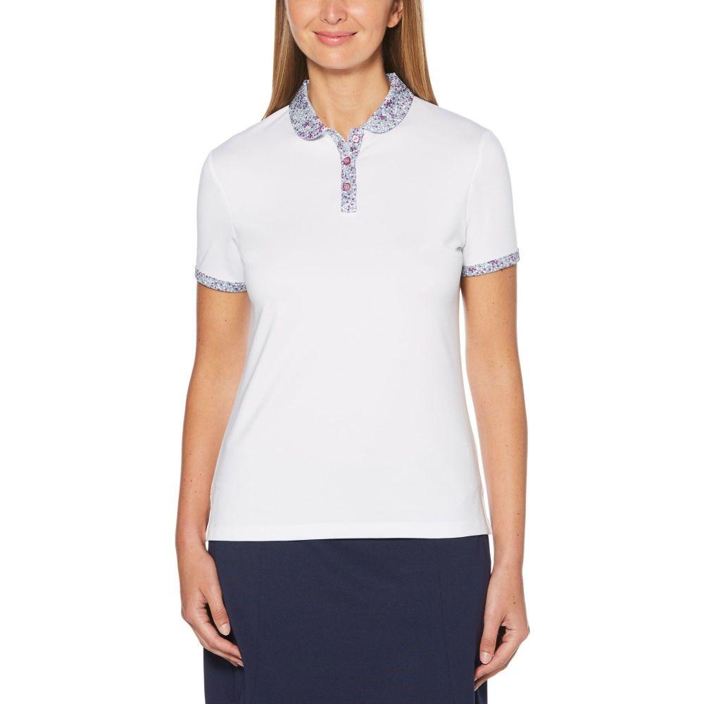 キャロウェイ Callaway レディース ゴルフ ポロシャツ トップス【Solid Golf Polo - Extended Sizes】White