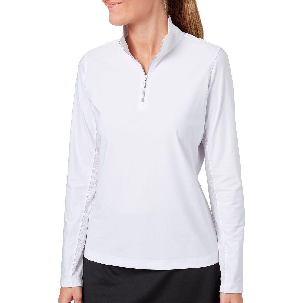 レディー ハーゲン Lady Hagen レディース ゴルフ トップス【Hagen UV 1/4-Zip Golf Pullover】White