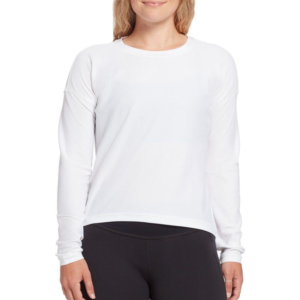 キャリー アンダーウッド CALIA by Carrie Underwood レディース トップス 【Move Mesh Long Sleeve Shirt】Pure White