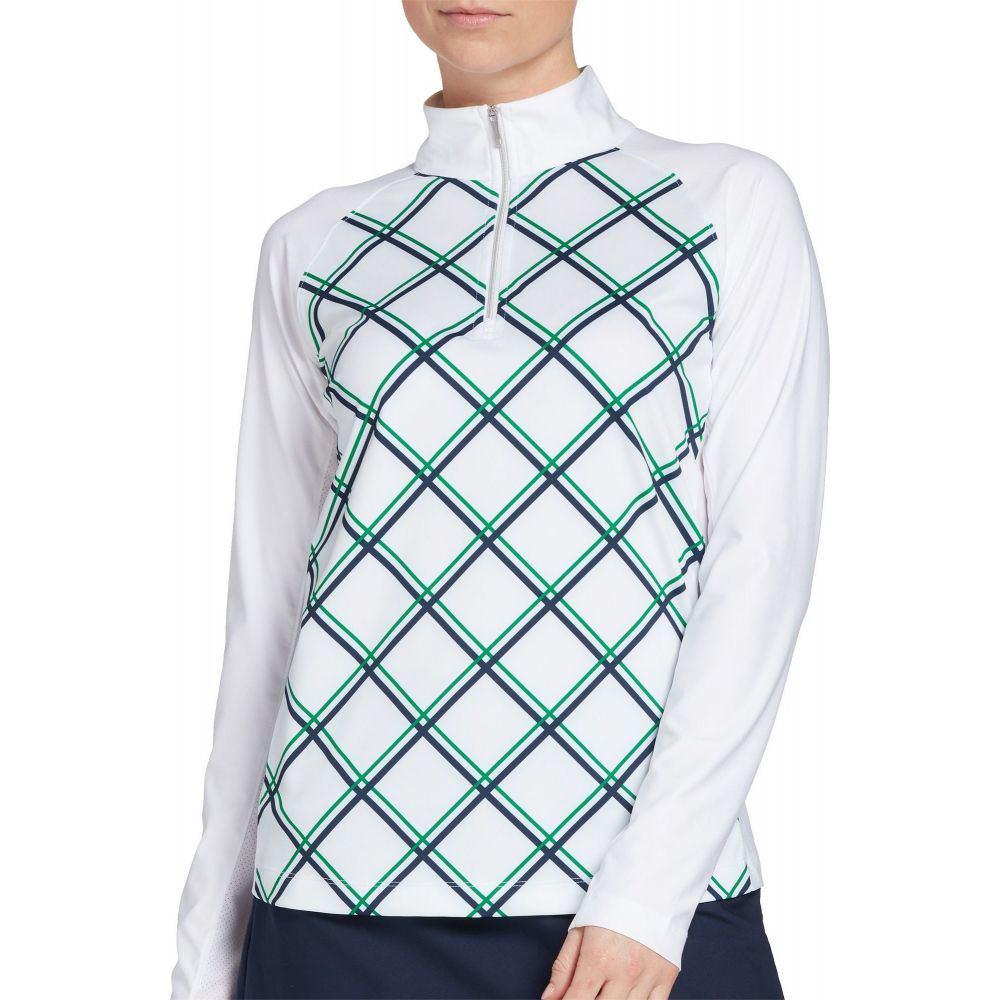 レディー ハーゲン Lady Hagen レディース ゴルフ トップス【Hagen Print 1/4-Zip Golf Pullover】White Grid