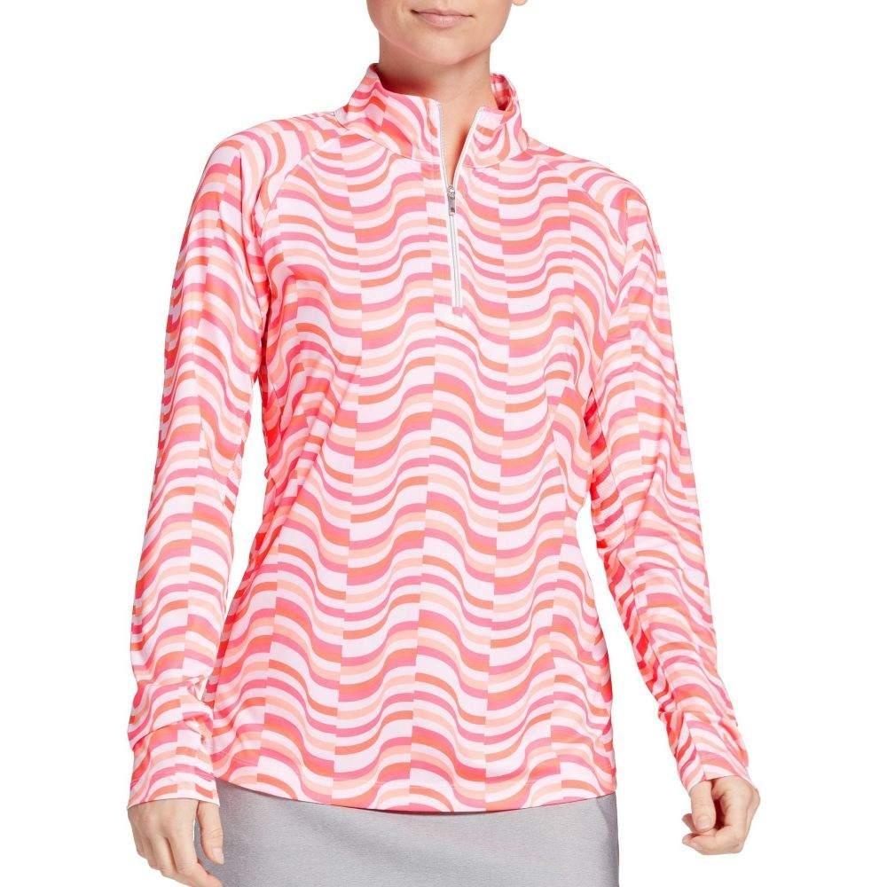 レディー ハーゲン Lady Hagen レディース ゴルフ トップス【Hagen Print 1/4-Zip Golf Pullover】Pink Wave