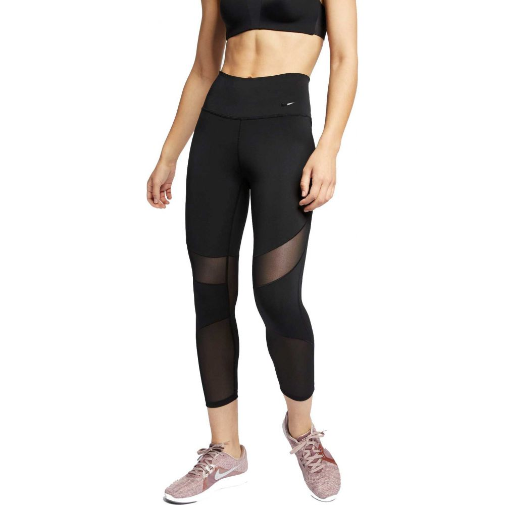 ナイキ Nike レディース フィットネス・トレーニング スパッツ・レギンス ボトムス・パンツ【One Fly Crop Training Tights】Black