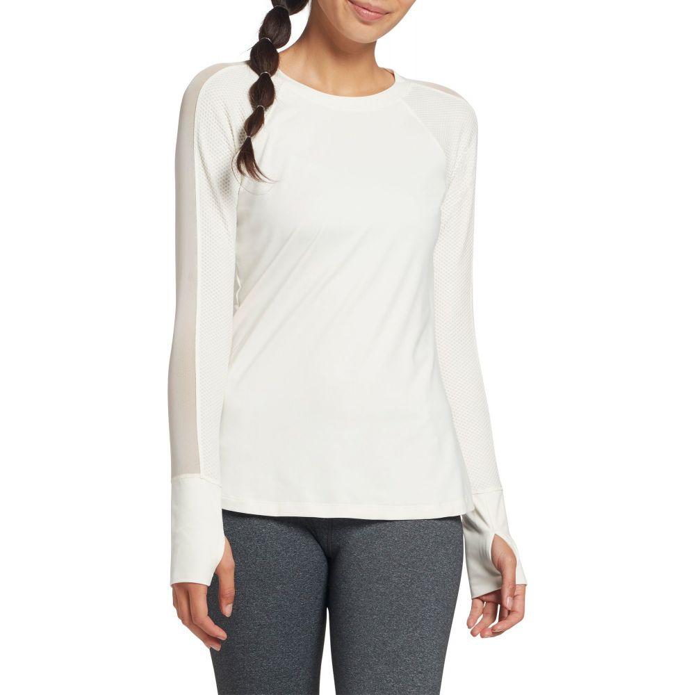 キャリー アンダーウッド CALIA by Carrie Underwood レディース トップス 【Move Mesh Panel Long Sleeve Shirt】White Ivory