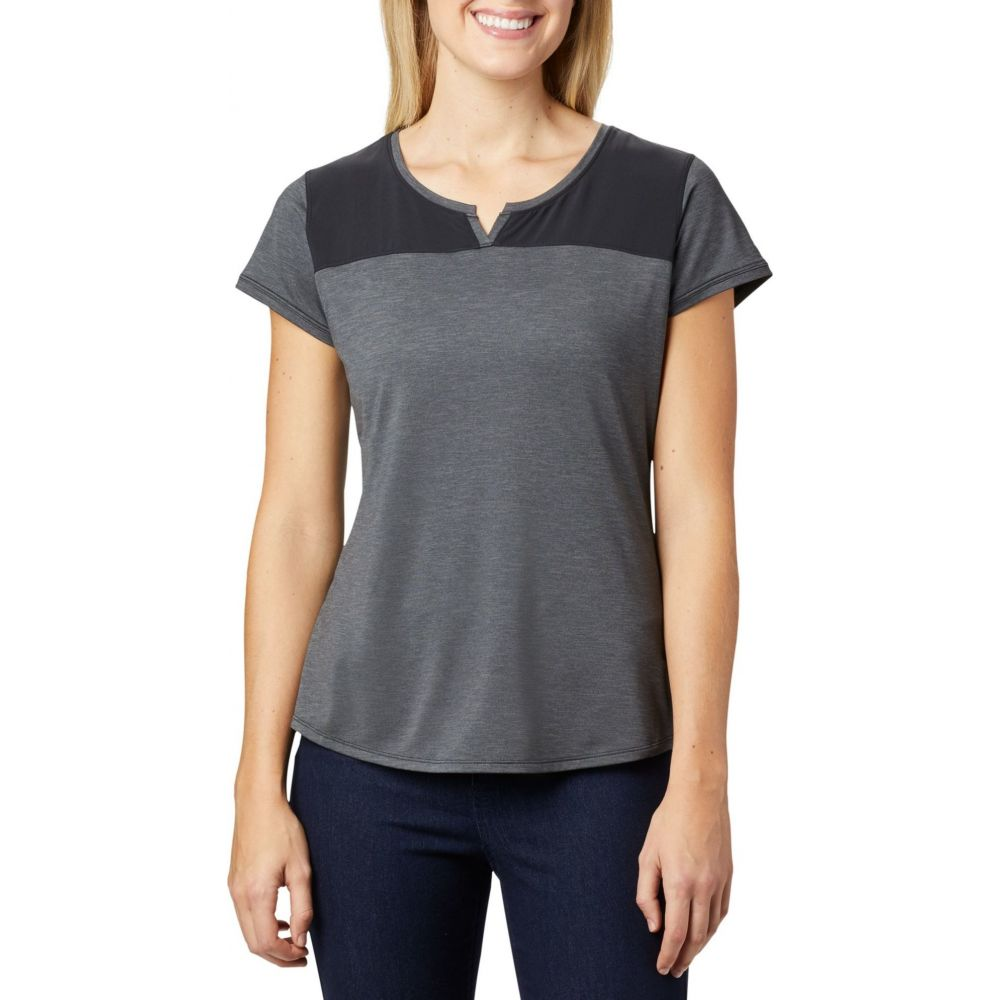 コロンビア Columbia レディース トップス 【Place to Place II Short Sleeve Shirt】Black Heather