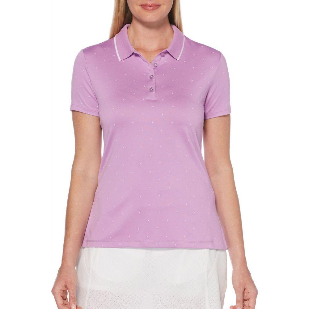 キャロウェイ Callaway レディース ゴルフ 半袖 トップス【Chevron Polka Dot Short Sleeve Golf Polo】Sheer Lilac