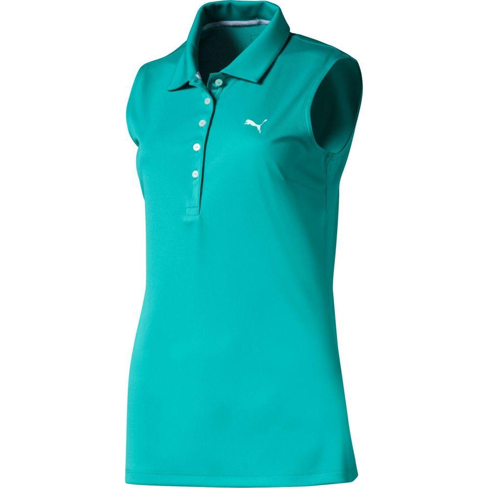プーマ PUMA レディース ゴルフ ノースリーブ ポロシャツ トップス【Pounce Sleeveless Golf Polo】Blue Turquoise
