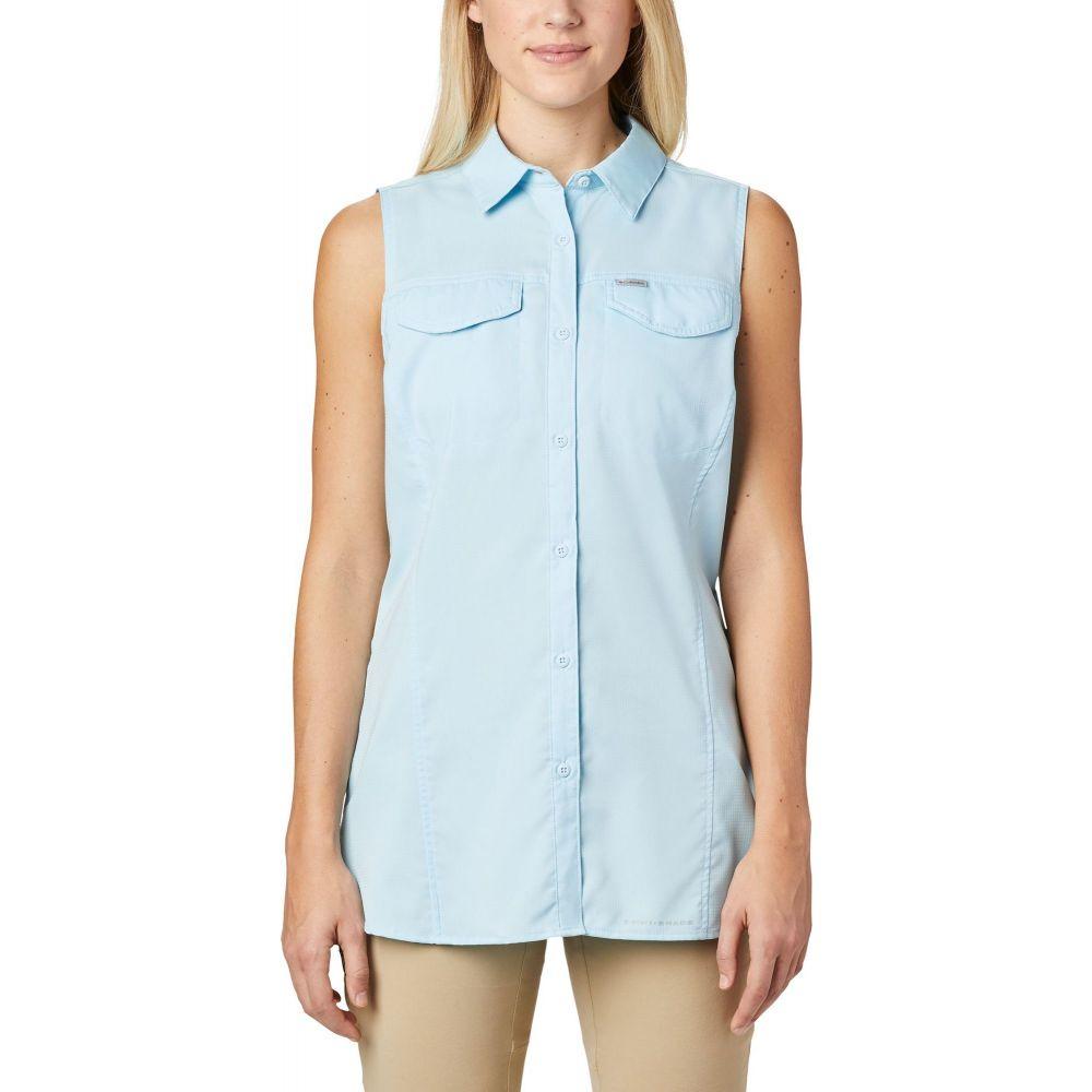 コロンビア Columbia レディース ノースリーブ トップス【Silver Ridge Lite Sleeveless Shirt】Spring Blue
