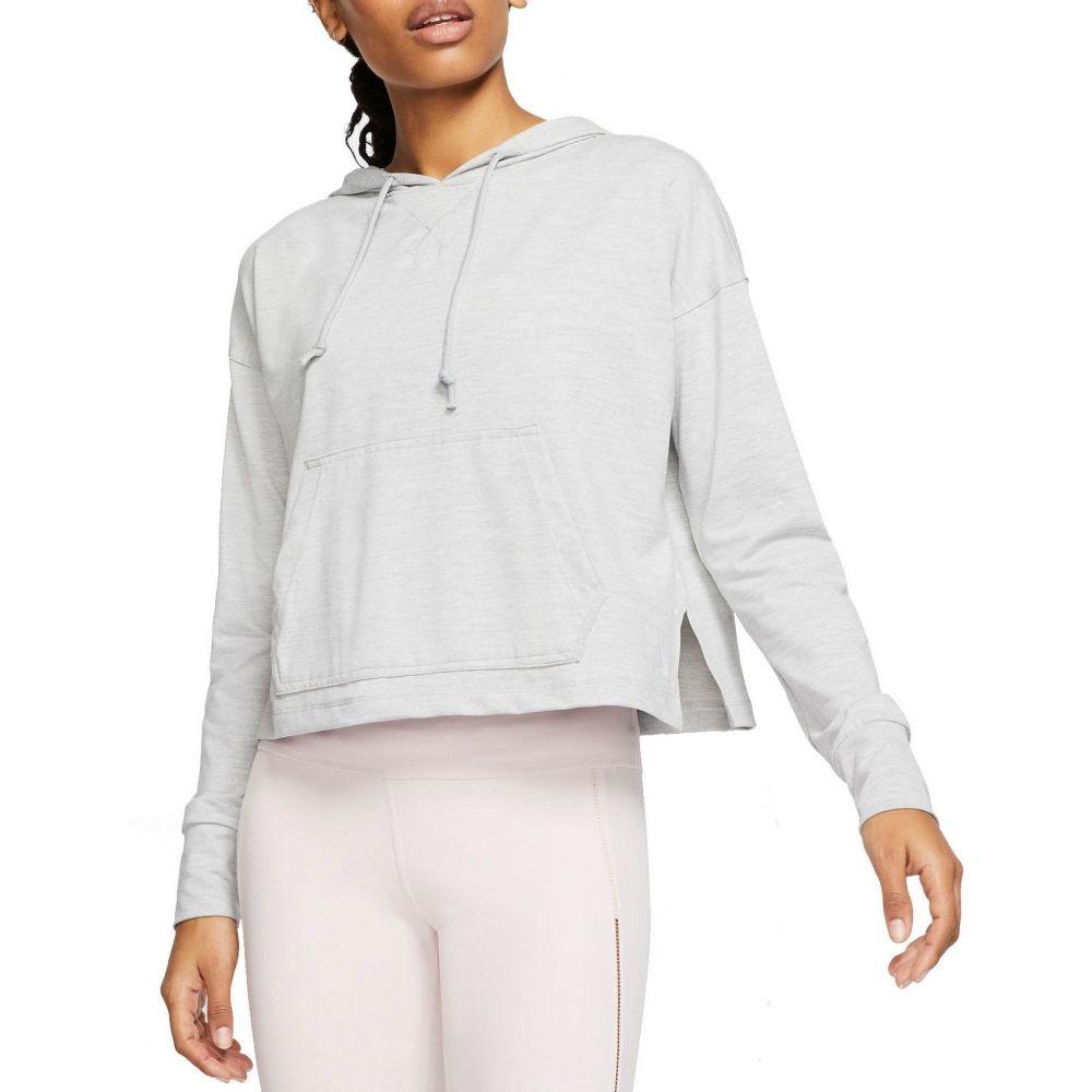 ナイキ Nike レディース ヨガ・ピラティス パーカー トップス【Yoga Jersey Cropped Hoodie】Lt Smoke Grey