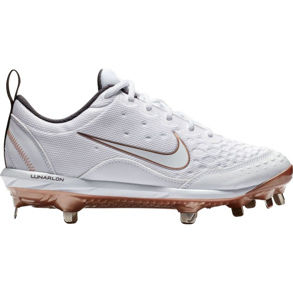 ナイキ Nike レディース 野球 スパイク シューズ・靴【Lunar Hyperdiamond 2 Pro Fastpitch Softball Cleats】White/Gold