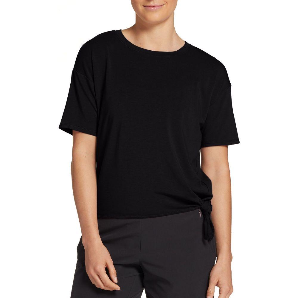 キャリー アンダーウッド CALIA by Carrie Underwood レディース Tシャツ トップス【Side Tie T-Shirt】Pure Black