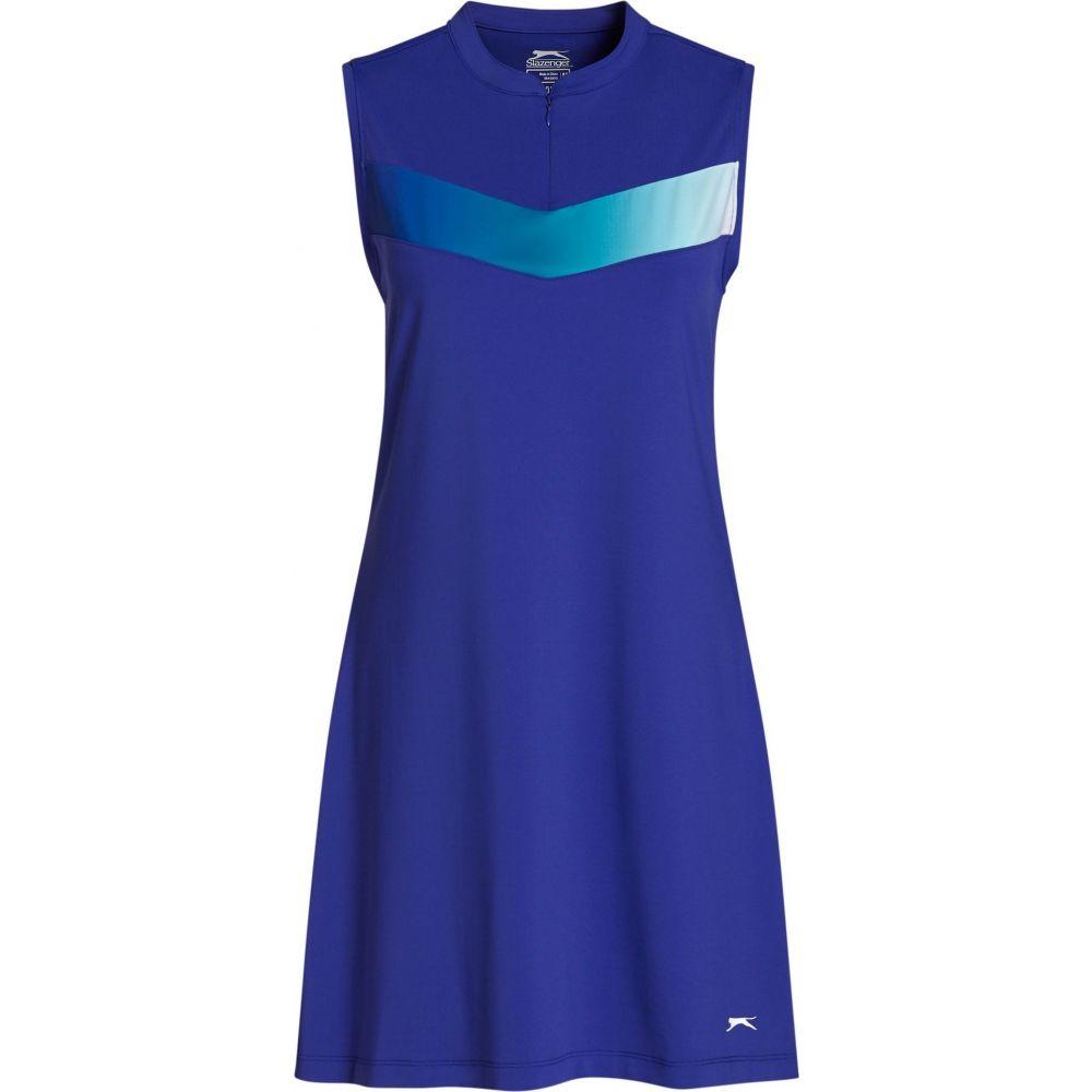 スラセンジャー Slazenger レディース ゴルフ ノースリーブ ワンピース トップス【Clash Pleated Sleeveless Golf Dress】Deep Violet