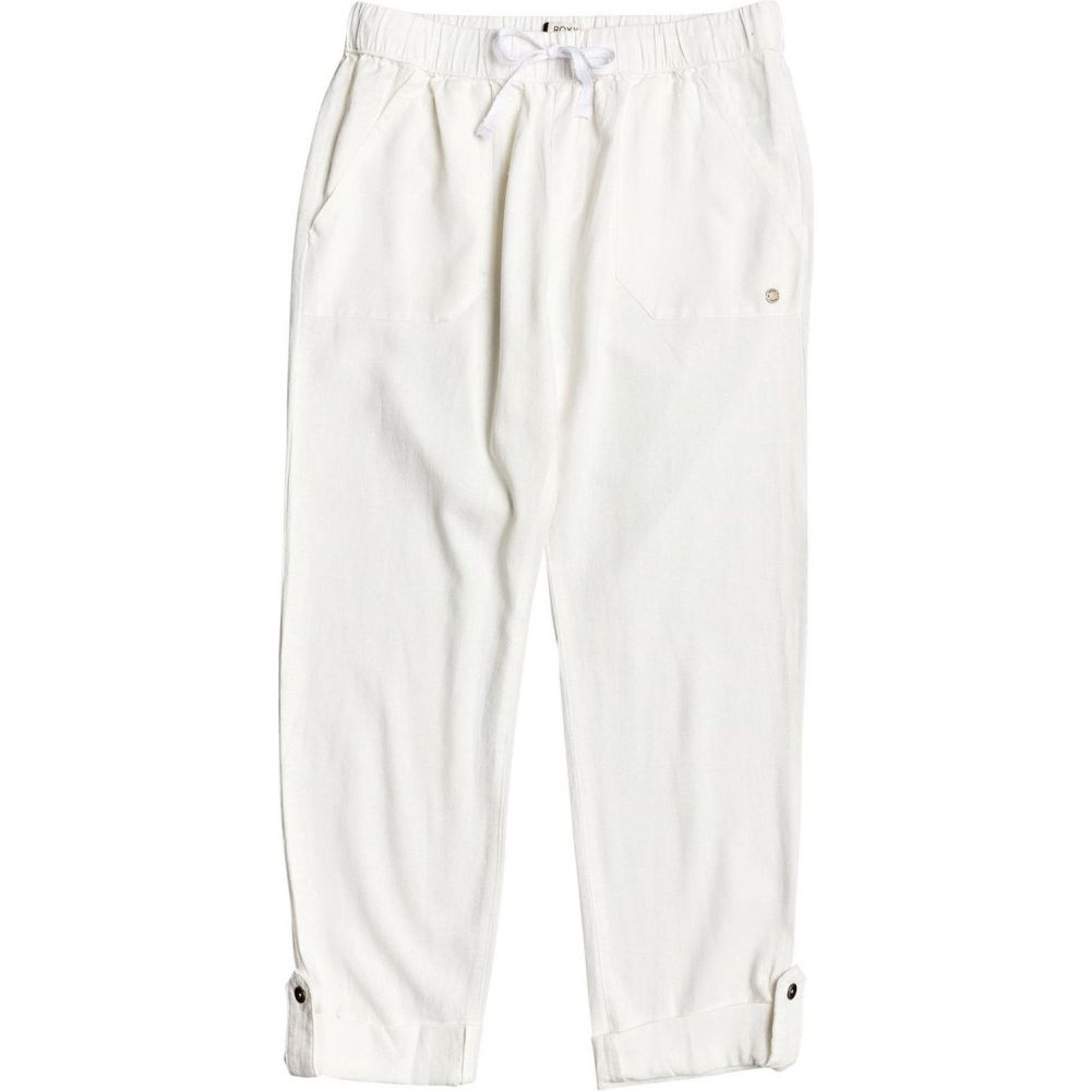 ロキシー Roxy レディース ボトムス・パンツ 【On the Seashore Linen Trousers】Snow White
