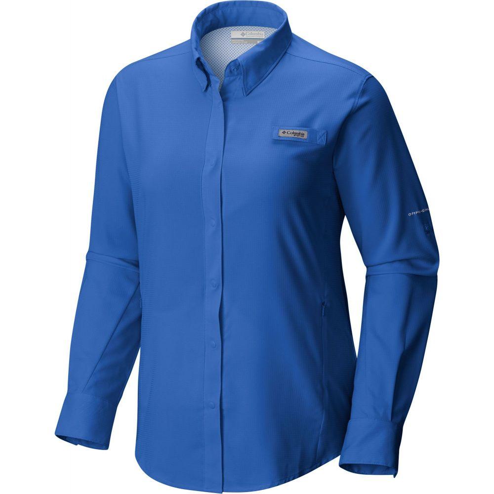 コロンビア Columbia レディース トップス 【PFG Tamiami II Long Sleeve Shirt】Blue Macaw