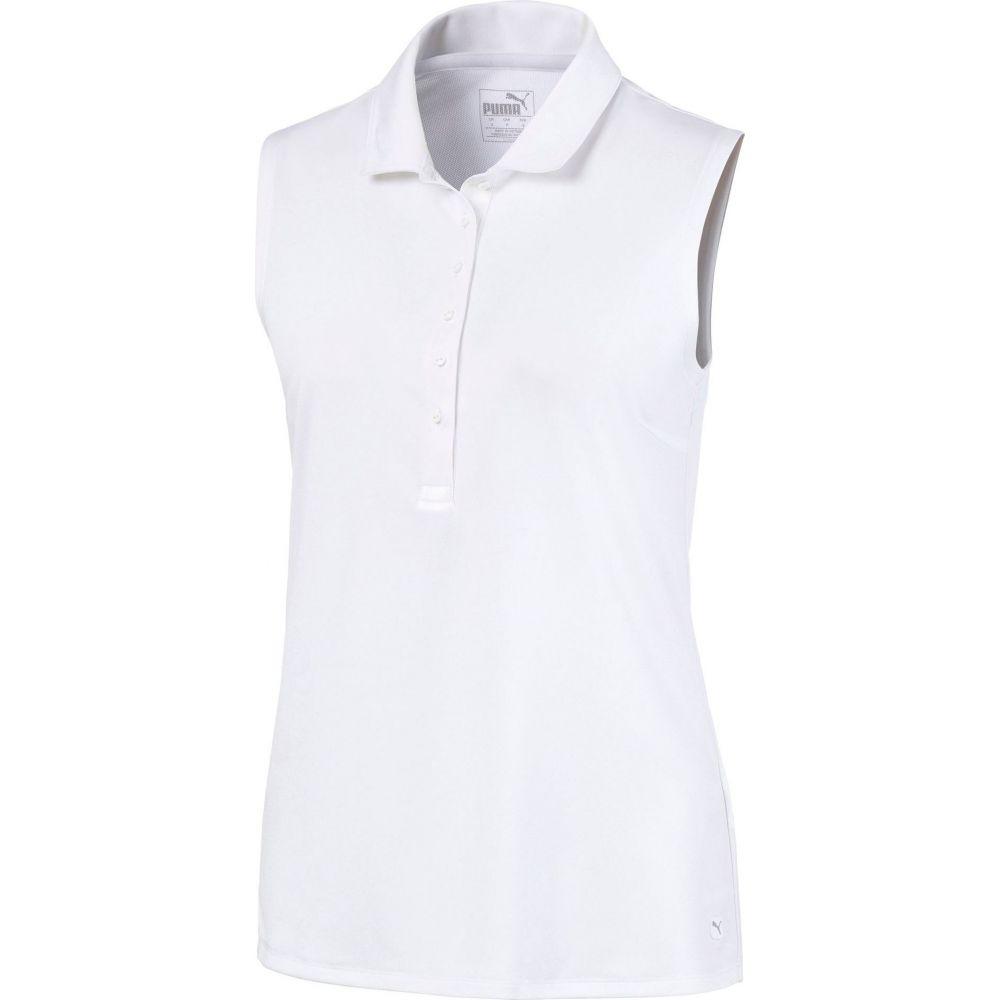 プーマ PUMA レディース ゴルフ ノースリーブ ポロシャツ トップス【Rotation Sleeveless Golf Polo】Bright White