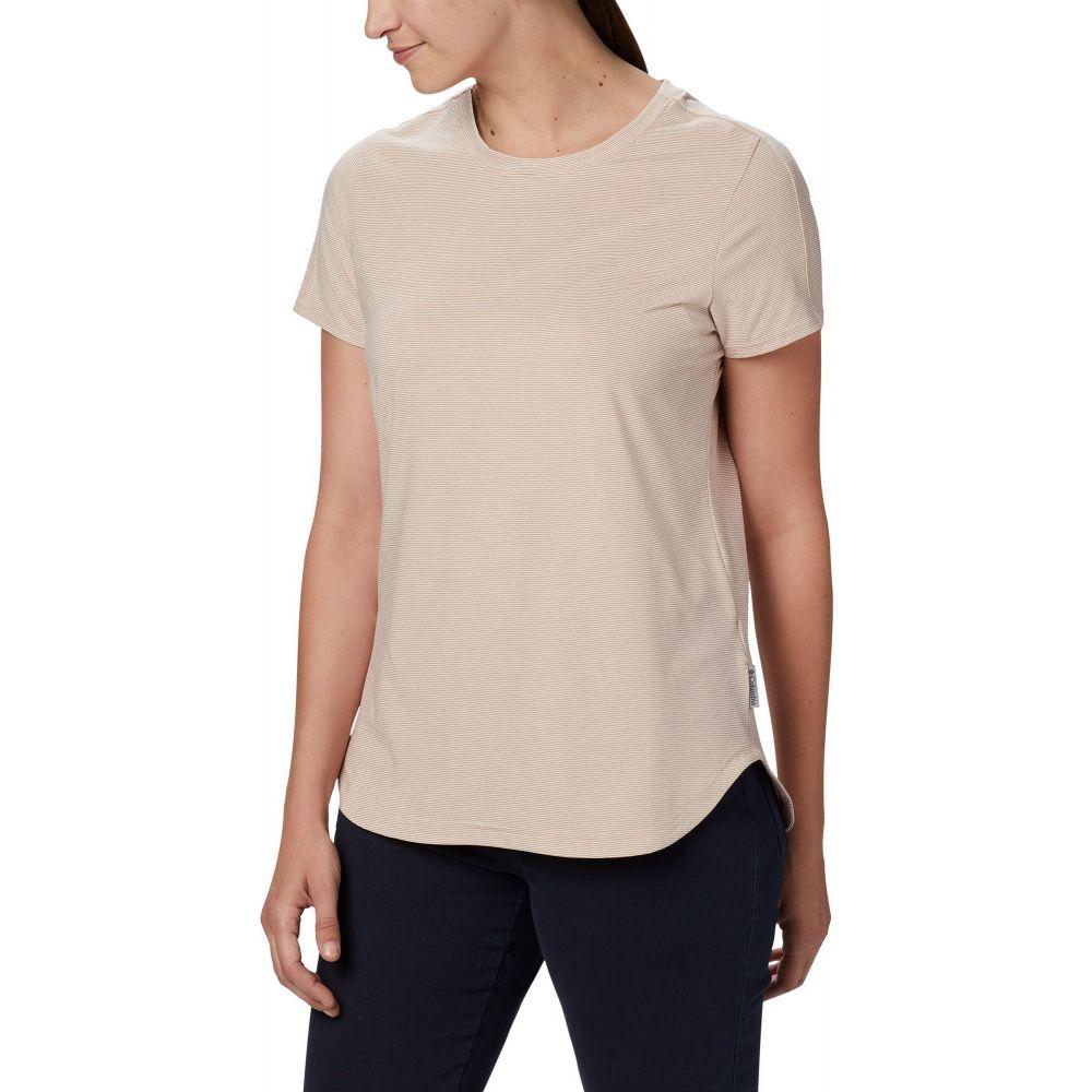 コロンビア Columbia レディース Tシャツ トップス【Firwood Camp II T-Shirt】Peach Cloud Small Stripe
