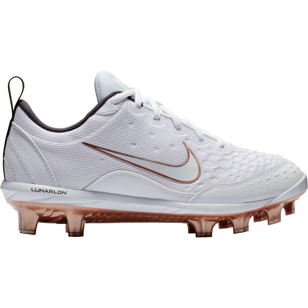 ナイキ Nike レディース 野球 スパイク シューズ・靴【Hyperdiamond 2 Pro Softball Cleats】White/Gold