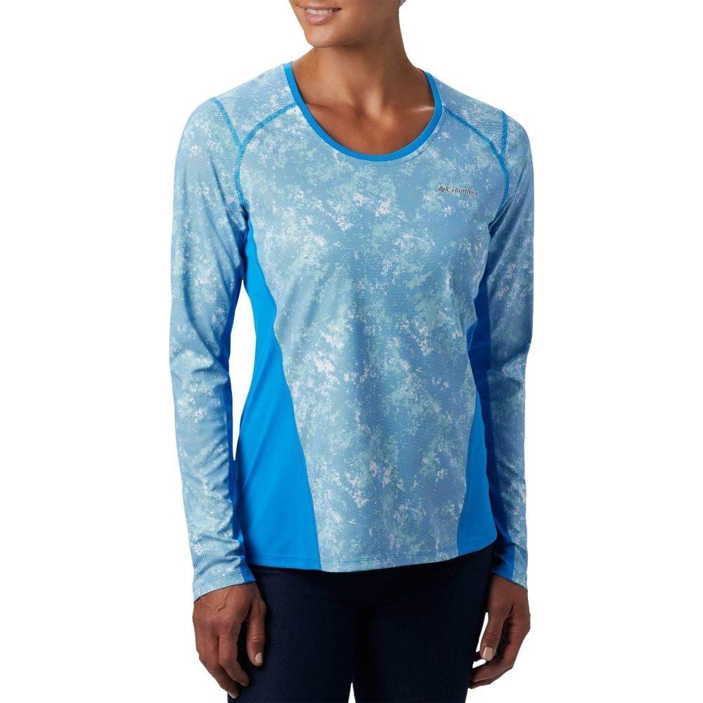 コロンビア Columbia レディース 長袖Tシャツ トップス【Solar Chill 2.0 Long Sleeve T-Shirt】Static Blue Print
