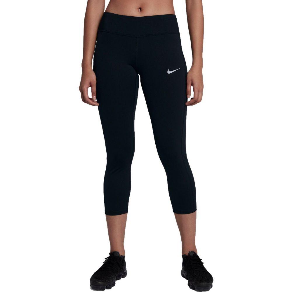 ナイキ Nike レディース ランニング・ウォーキング スパッツ・レギンス ボトムス・パンツ【Power Running Crop Leggings】Black