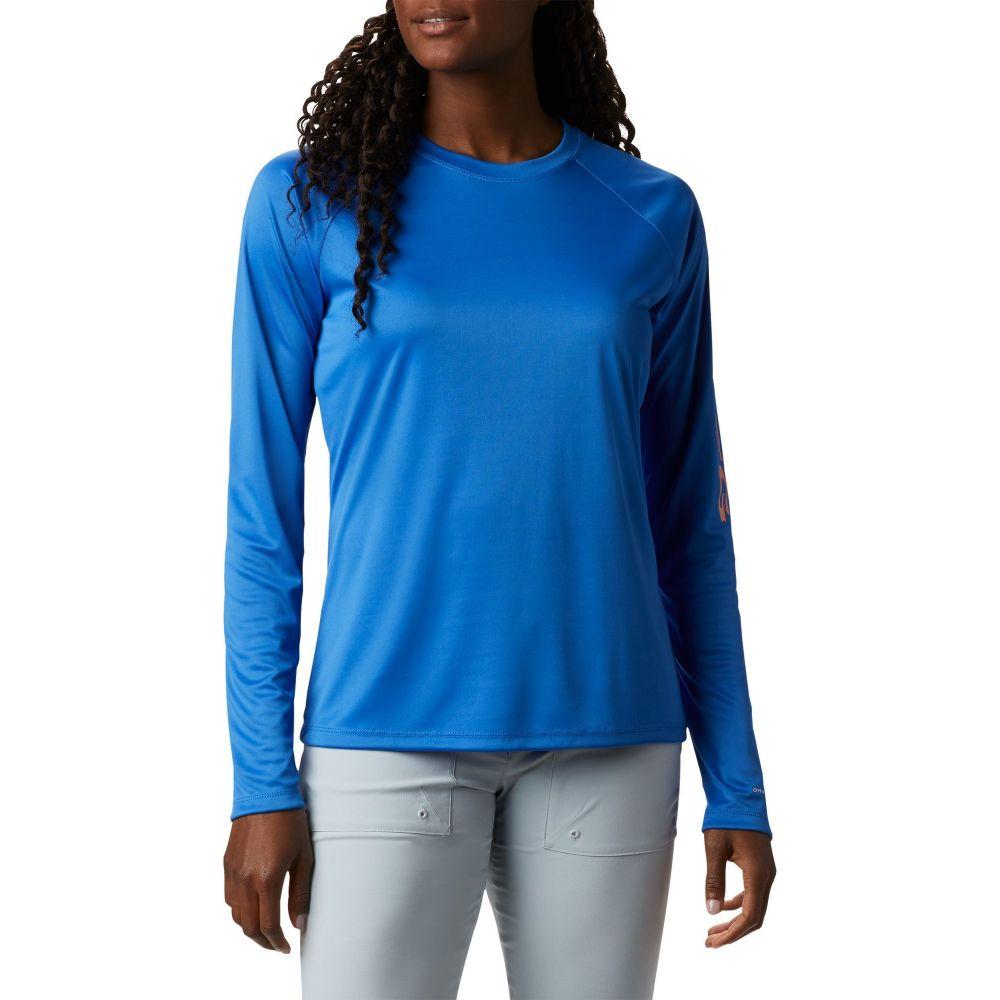 コロンビア Columbia レディース 長袖Tシャツ トップス【Tidal Tee II Long Sleeve Shirt】Stormy Blue/Lt Coral Logo