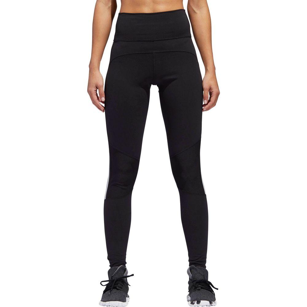 アディダス adidas レディース フィットネス・トレーニング スパッツ・レギンス ボトムス・パンツ【Believe This 3-Stripe 7/8 Training Tights】Black/White
