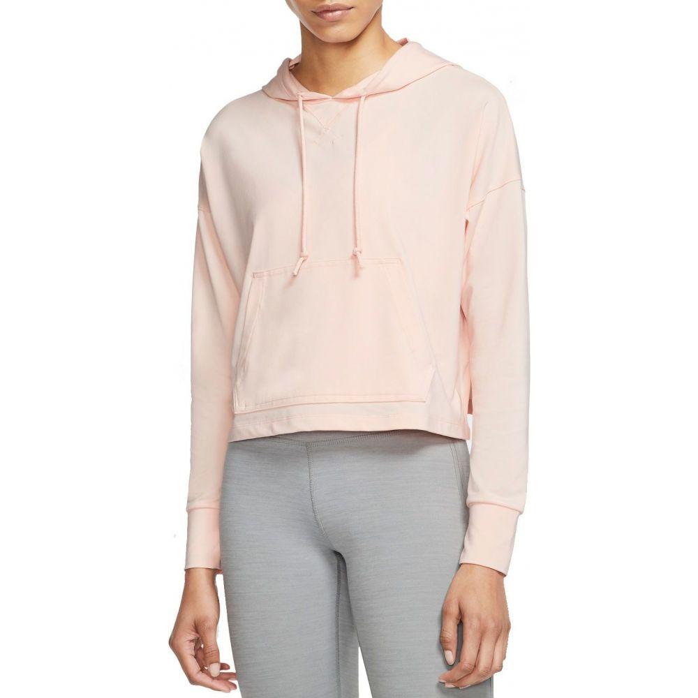 ナイキ Nike レディース ヨガ・ピラティス パーカー トップス【Yoga Jersey Cropped Hoodie】Washed Coral