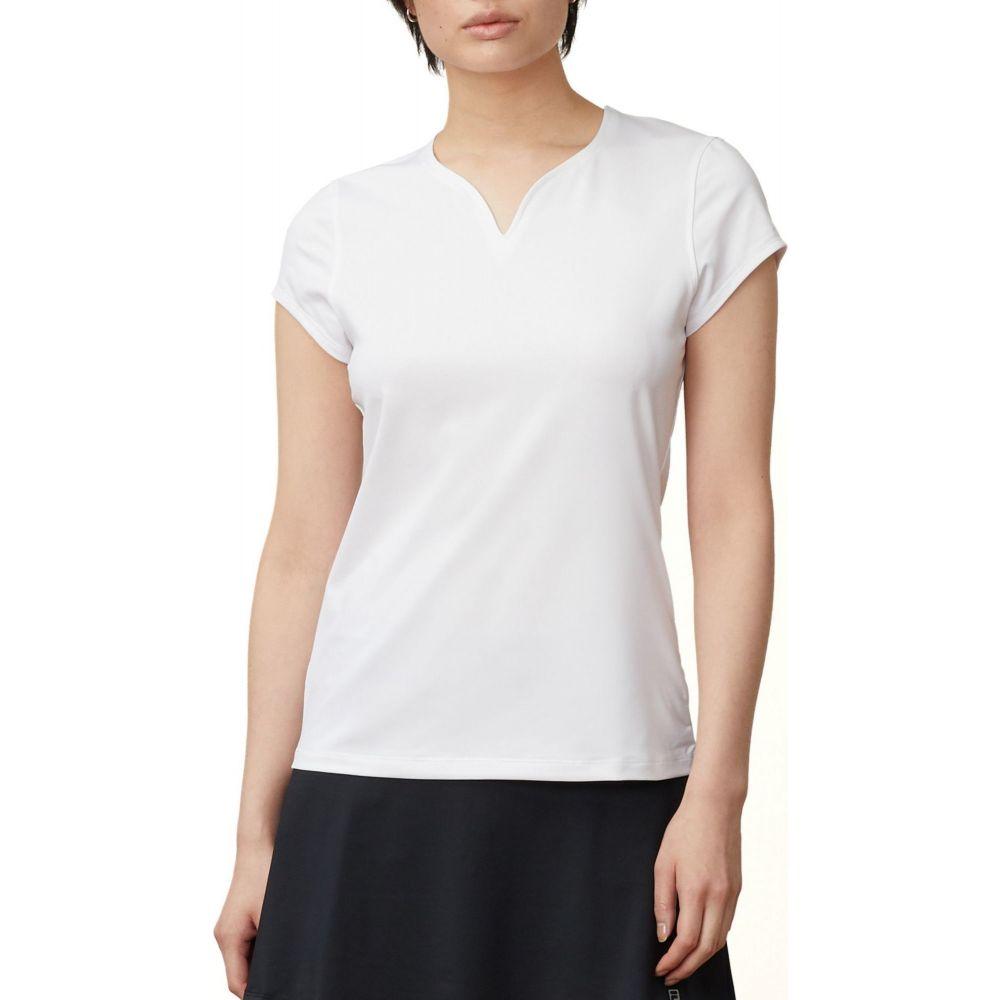 フィラ Fila レディース テニス トップス【FILA Foundation Cap Sleeve Tennis Top】White