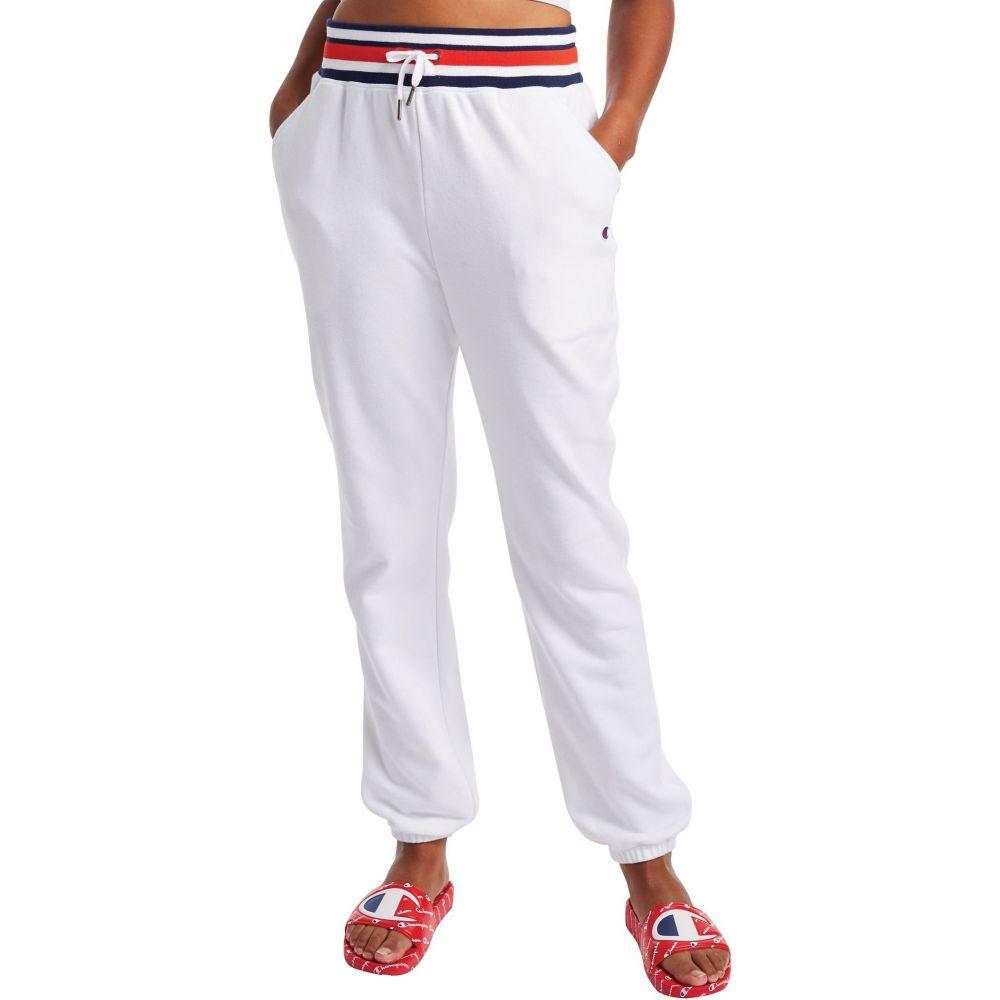チャンピオン Champion レディース スウェット・ジャージ ボトムス・パンツ【Campus French Terry Sweatpants】White