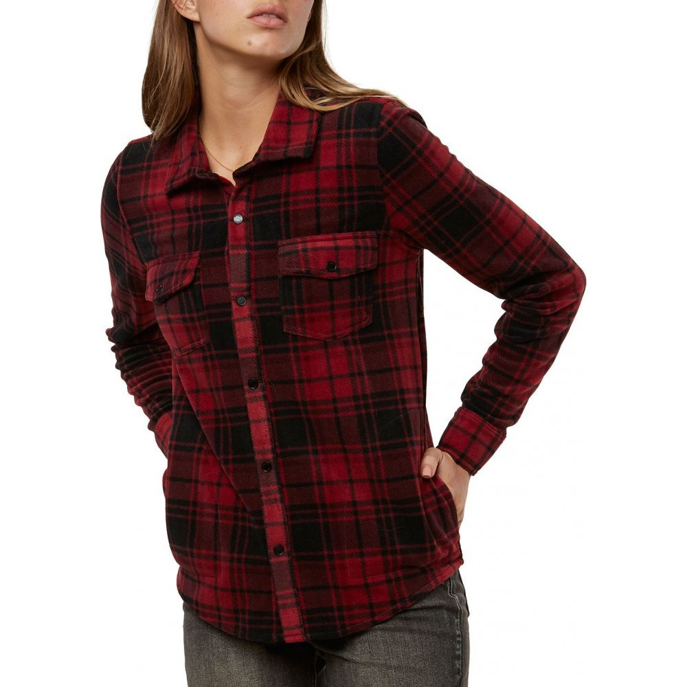 オニール O'Neill レディース ブラウス・シャツ フランネルシャツ トップス【Zuma Long Sleeve Flannel Shirt】Ruby