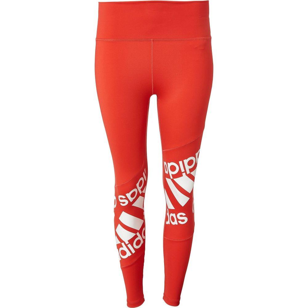 アディダス adidas レディース スパッツ・レギンス インナー・下着【Believe This 2.0 Badge of Sport Disrupt 7/8 Tights】Glory Red/White