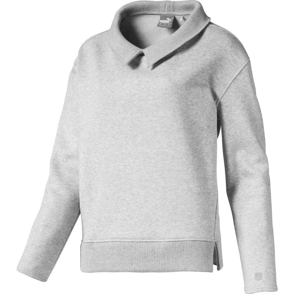 プーマ PUMA レディース ゴルフ トップス【Cozy Fleece Golf Pullover】Light Gray Heather
