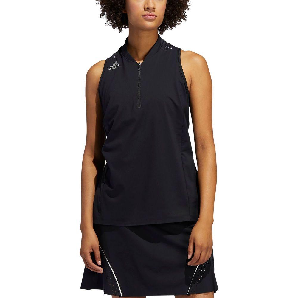 アディダス adidas レディース ゴルフ ノースリーブ ポロシャツ トップス【Racerback Sleeveless Golf Polo】Black