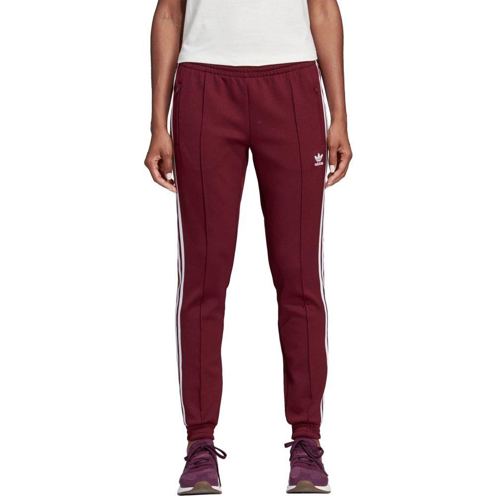 アディダス adidas レディース スウェット・ジャージ ボトムス・パンツ【Originals CLRDO SST Track Pants】Maroon