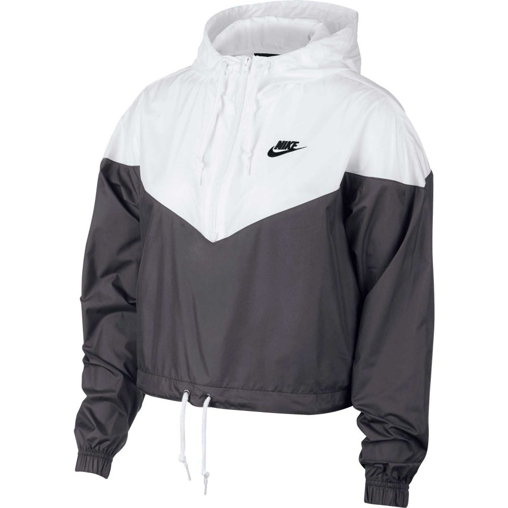 ナイキ Nike レディース ジャケット アウター【Sportswear Heritage Windrunner Jacket】Dark Grey
