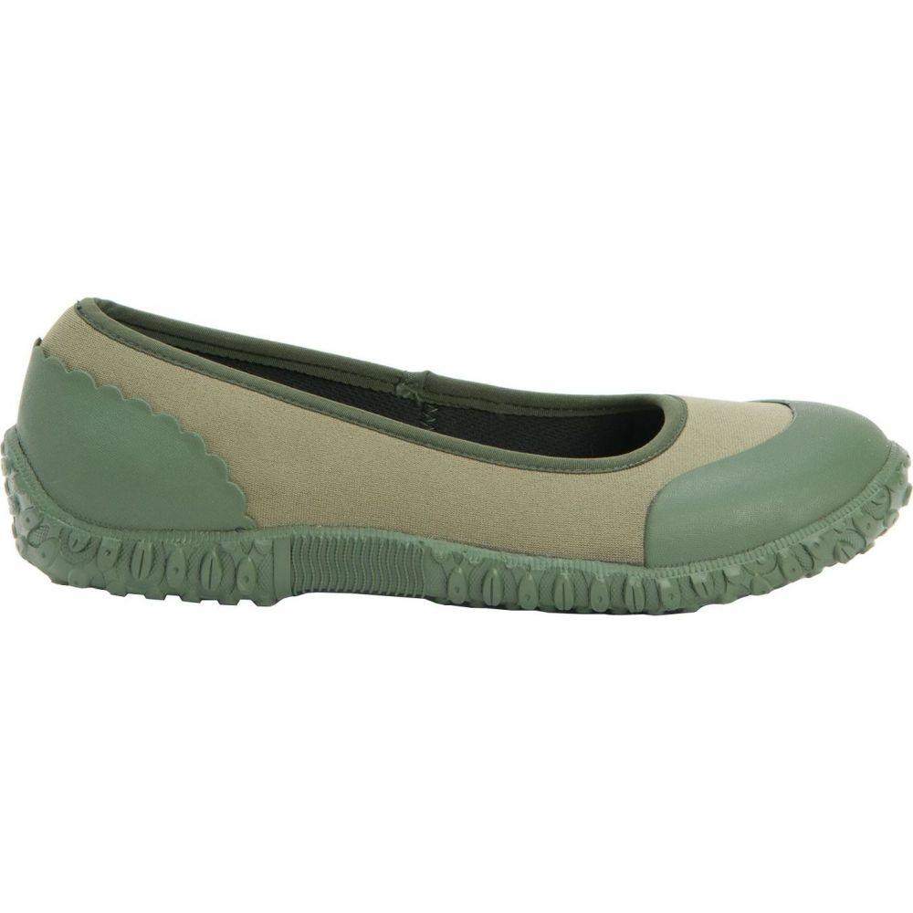 マックブーツ Muck Boots レディース スリッポン・フラット シューズ・靴【Muckster II Flats】Green/Veggie Print
