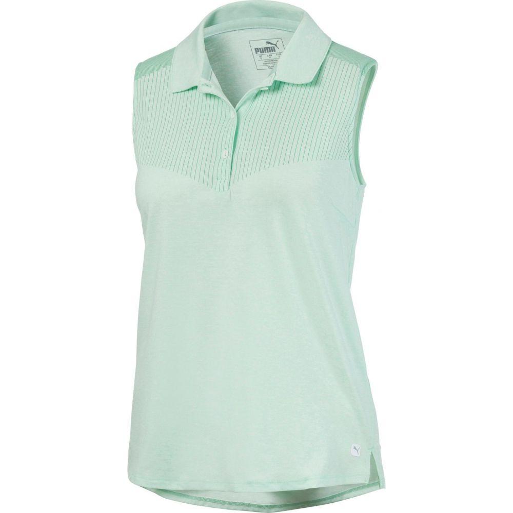 プーマ PUMA レディース ゴルフ ノースリーブ ポロシャツ トップス【Verticals Sleeveless Golf Polo】Mist Green Heather