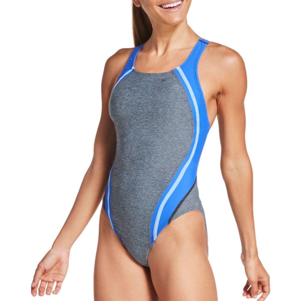 スピード Speedo レディース ワンピース 水着・ビーチウェア【Heather Quantum Splice One Piece Swimsuit】Speedo Black