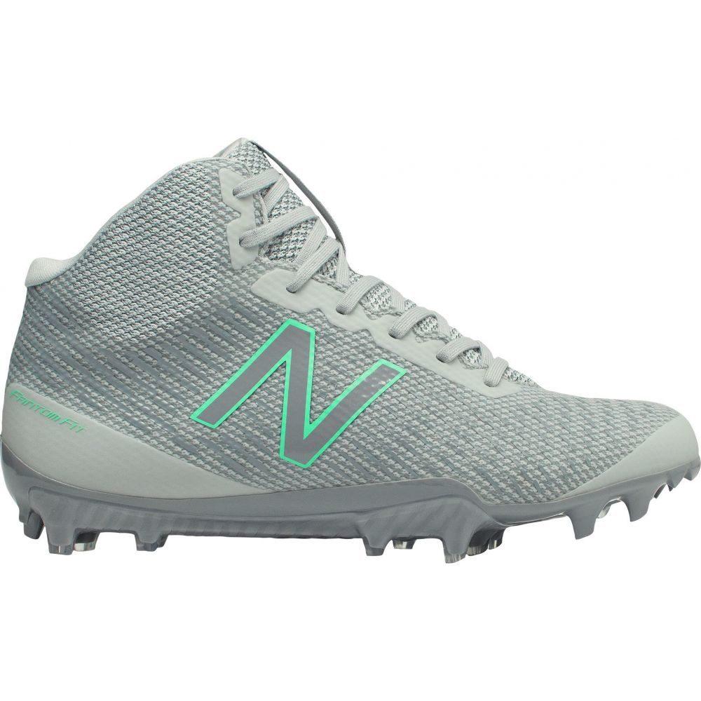 ニューバランス New Balance レディース ラクロス スパイク シューズ・靴【Burn X Mid Lacrosse Cleats】Grey/Green