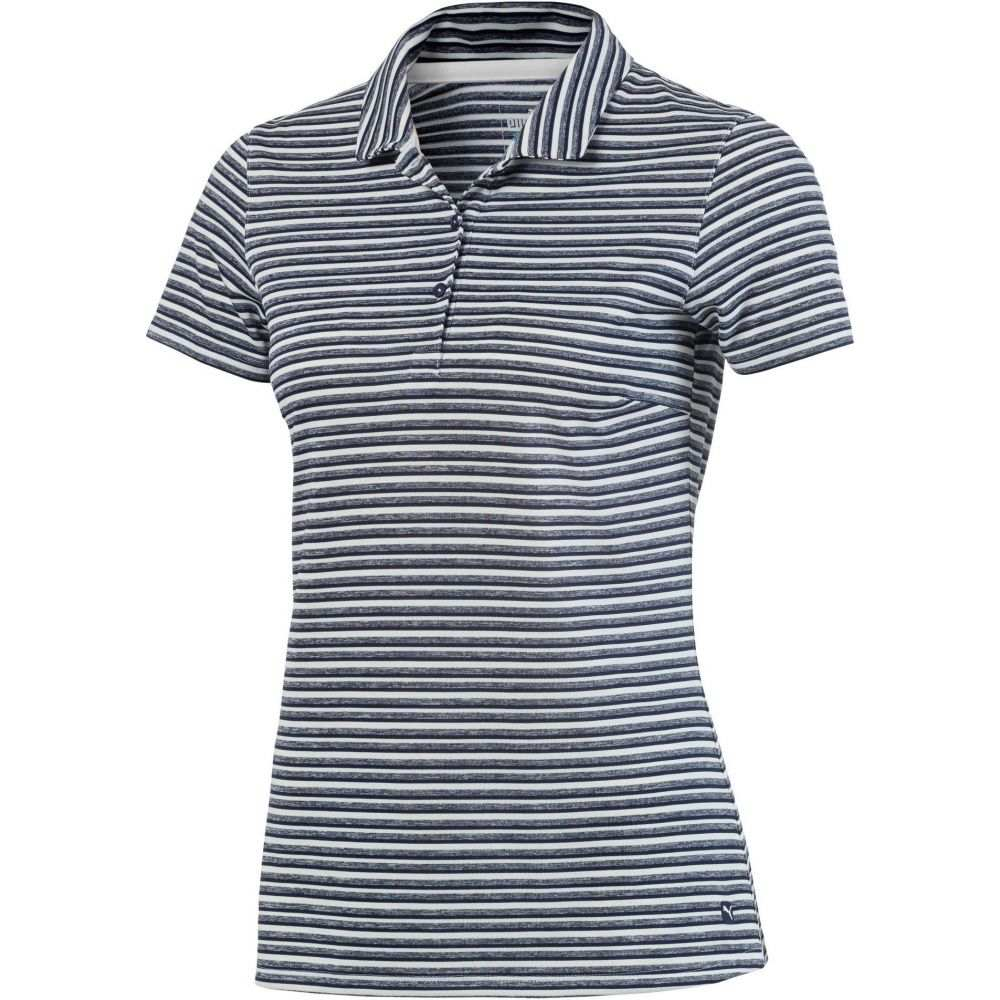 プーマ PUMA レディース ゴルフ 半袖 トップス【Links Short Sleeve Golf Polo】Peacoat