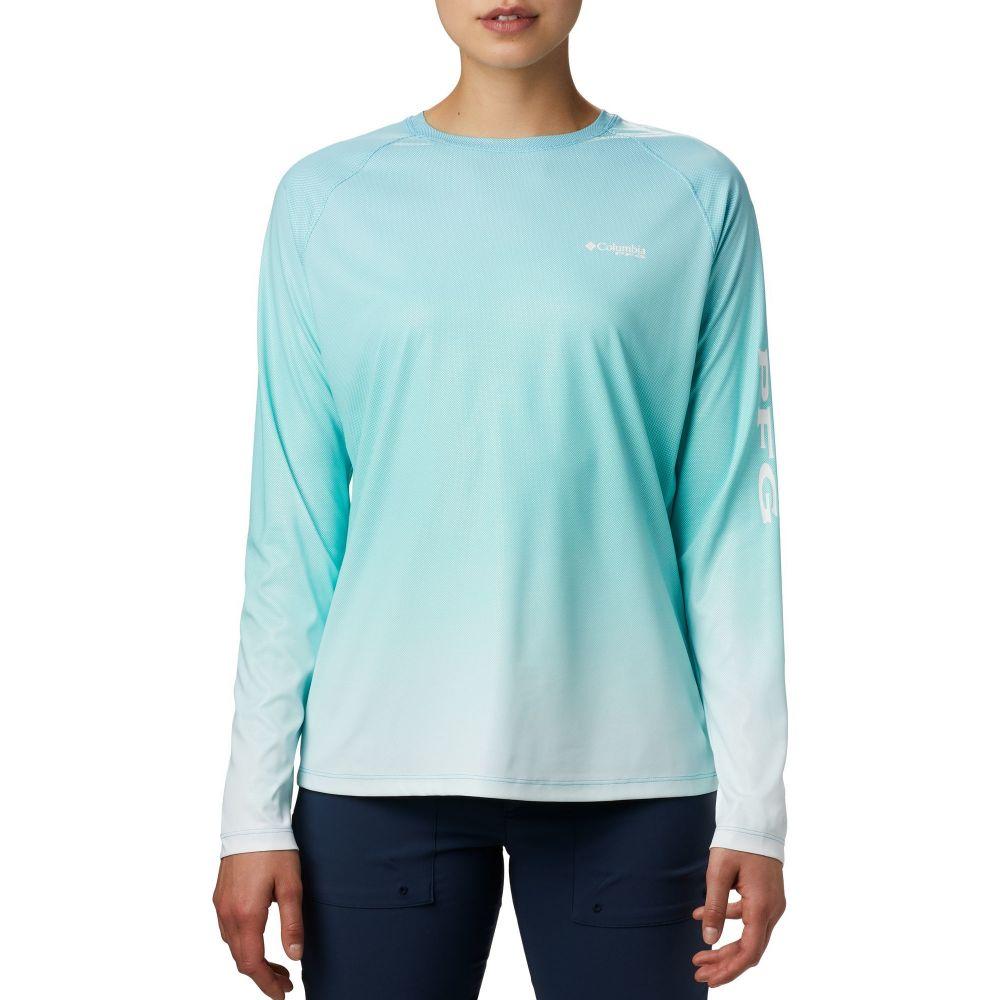 コロンビア Columbia レディース トップス 【Tidal Deflector Long Sleeve Shirt】Clear Water Gradient
