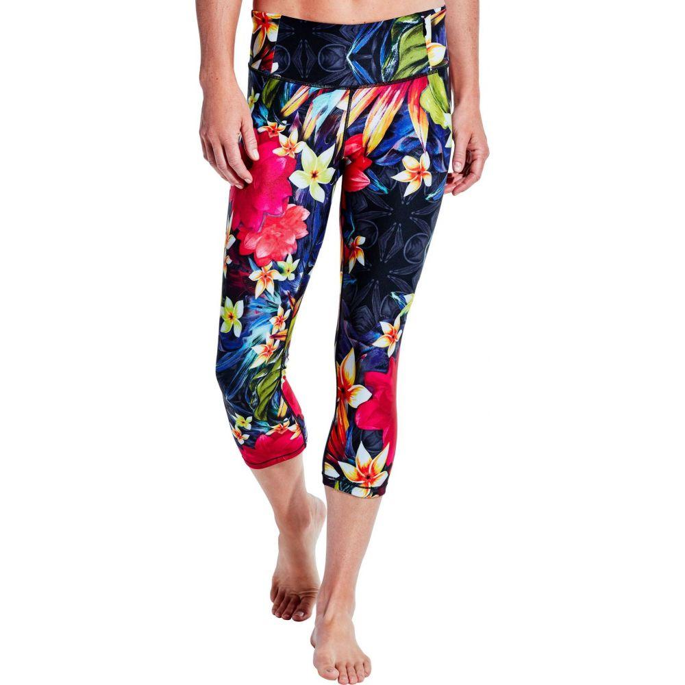 キャリー アンダーウッド CALIA by Carrie Underwood レディース スパッツ・レギンス インナー・下着【Essential Tight Fit Printed Capris】Placed Tropical Wash