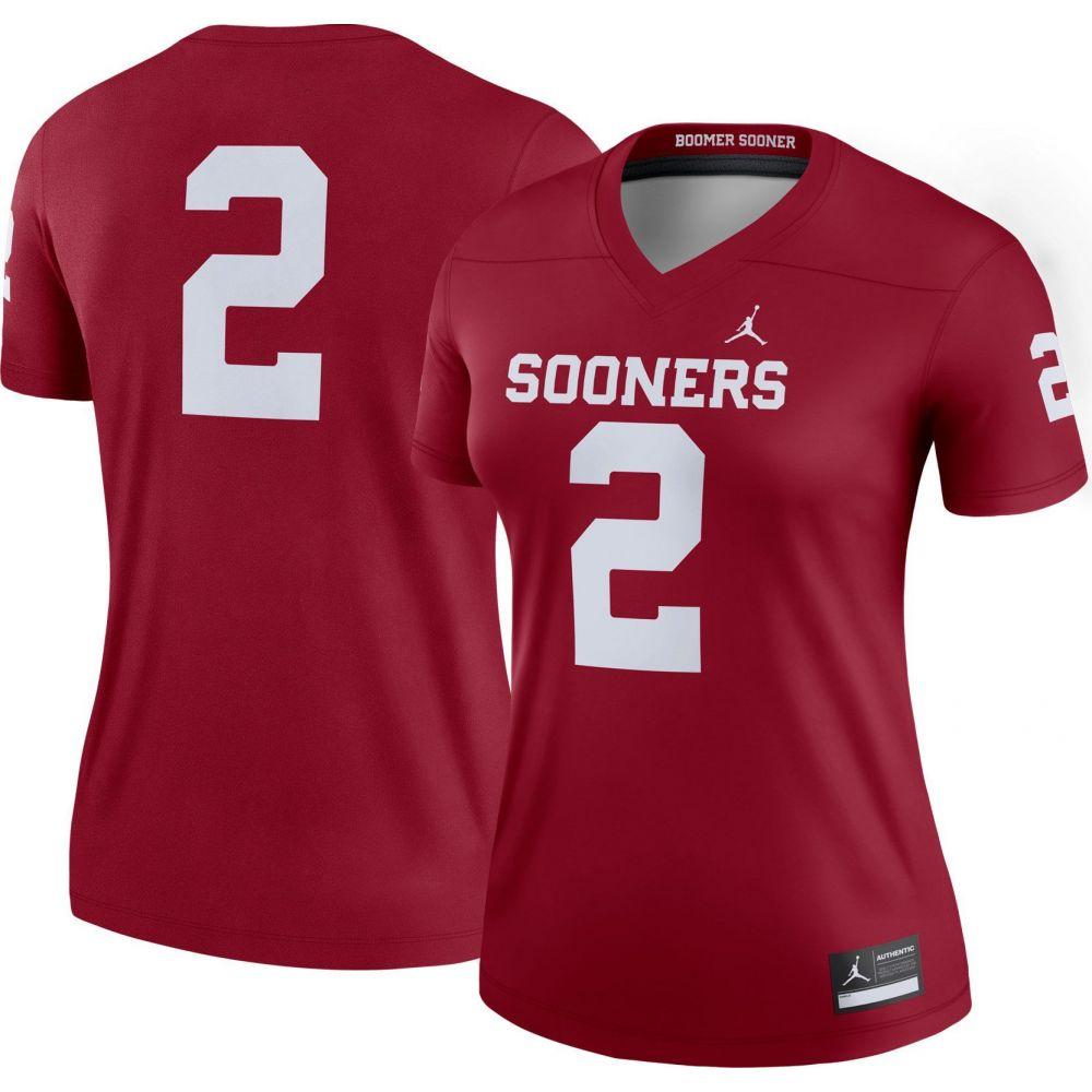 ナイキ ジョーダン Jordan レディース トップス 【Oklahoma Sooners #2 Crimson Dri-FIT Legend Football Jersey】