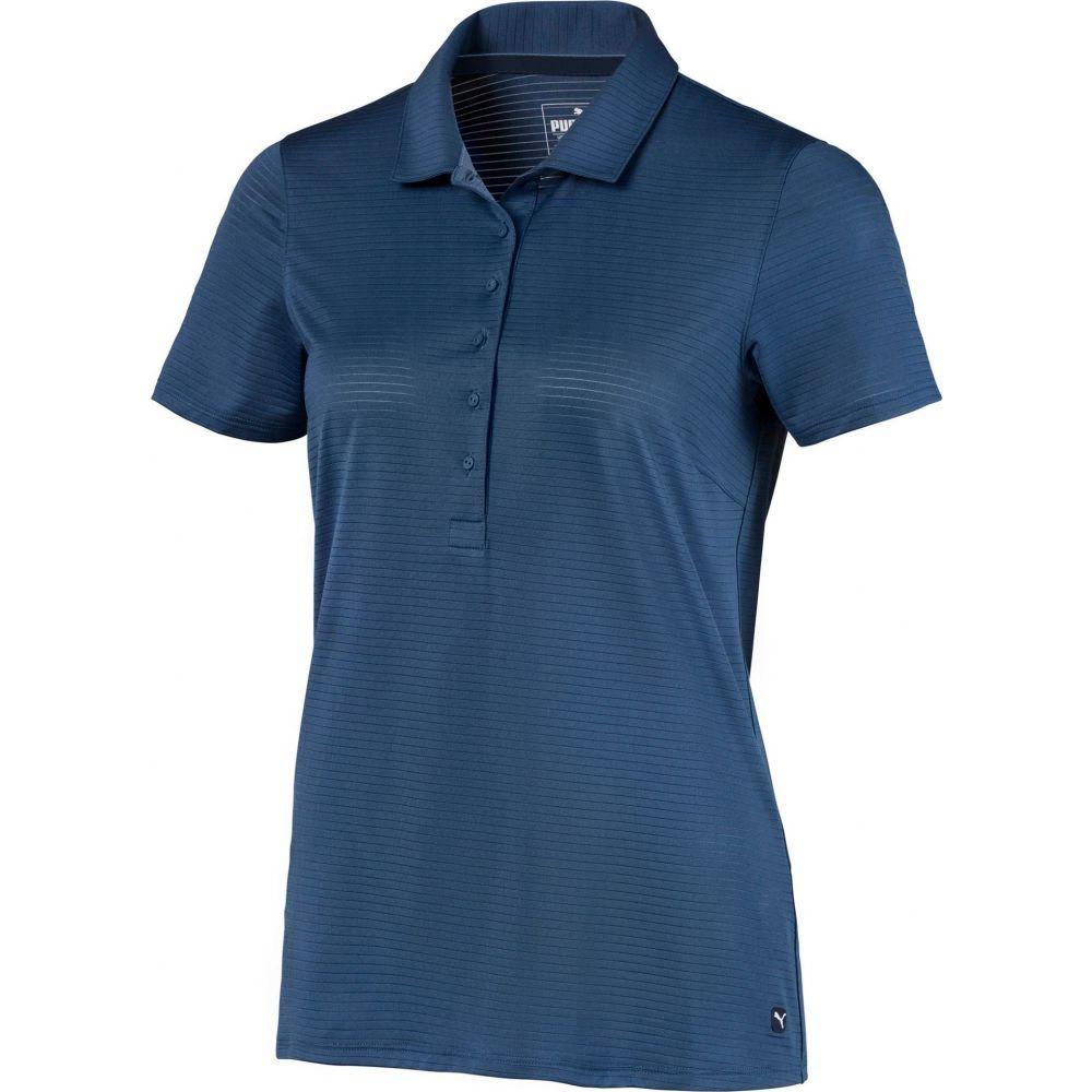 プーマ PUMA レディース ゴルフ 半袖 トップス【Daily Short Sleeve Golf Polo】Dark Denim
