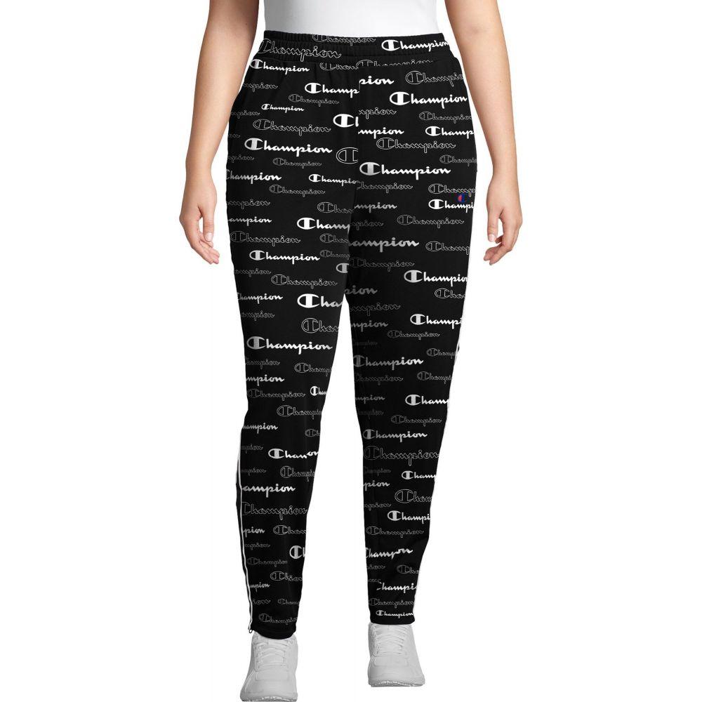 チャンピオン Champion レディース スウェット・ジャージ ボトムス・パンツ【Plus Print Track Pants】Scales of Script Black