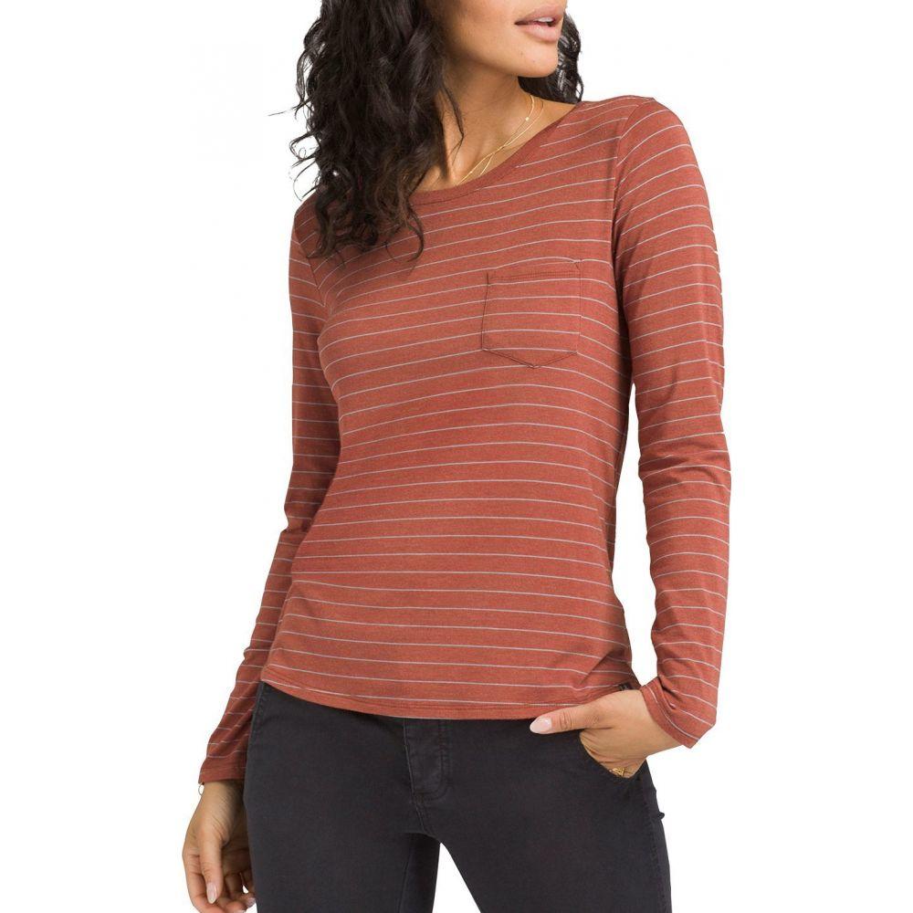 プラーナ prAna レディース トップス 【Foundation Crew Long Sleeve Shirt】Chai Heather Stripe