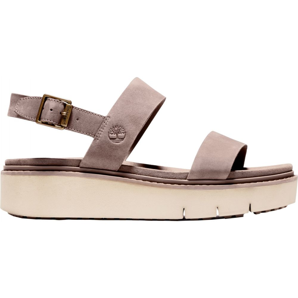 ティンバーランド Timberland レディース サンダル・ミュール シューズ・靴【Safari Dawn 2-Band Sandals】Taupe Grey