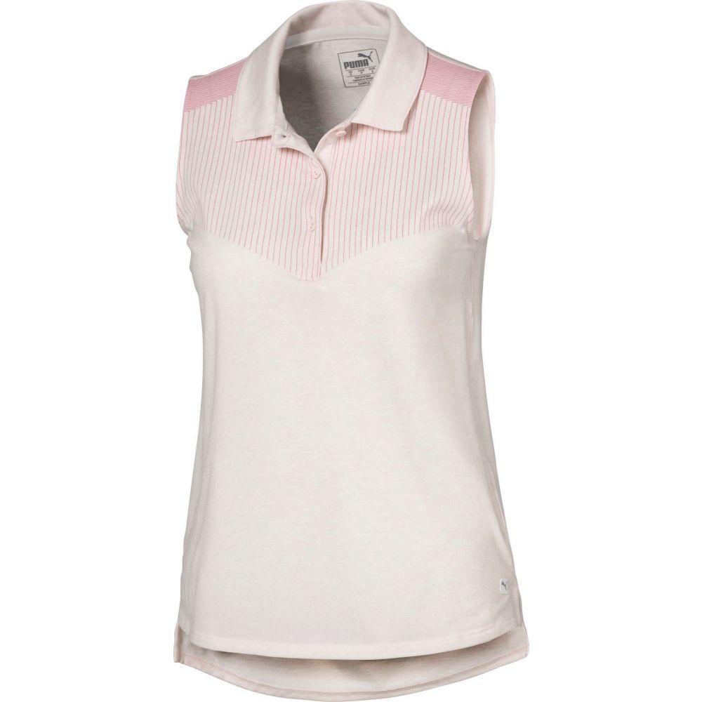 プーマ PUMA レディース ゴルフ ノースリーブ ポロシャツ トップス【Verticals Sleeveless Golf Polo】Rosewater Heather